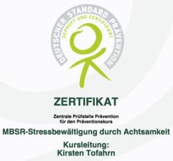 Zertifikat Zentrale Prüfstelle Prävention